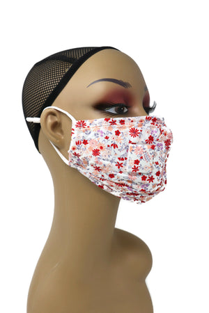 Reusable Washable Cotton Face Mask with Straw Hole