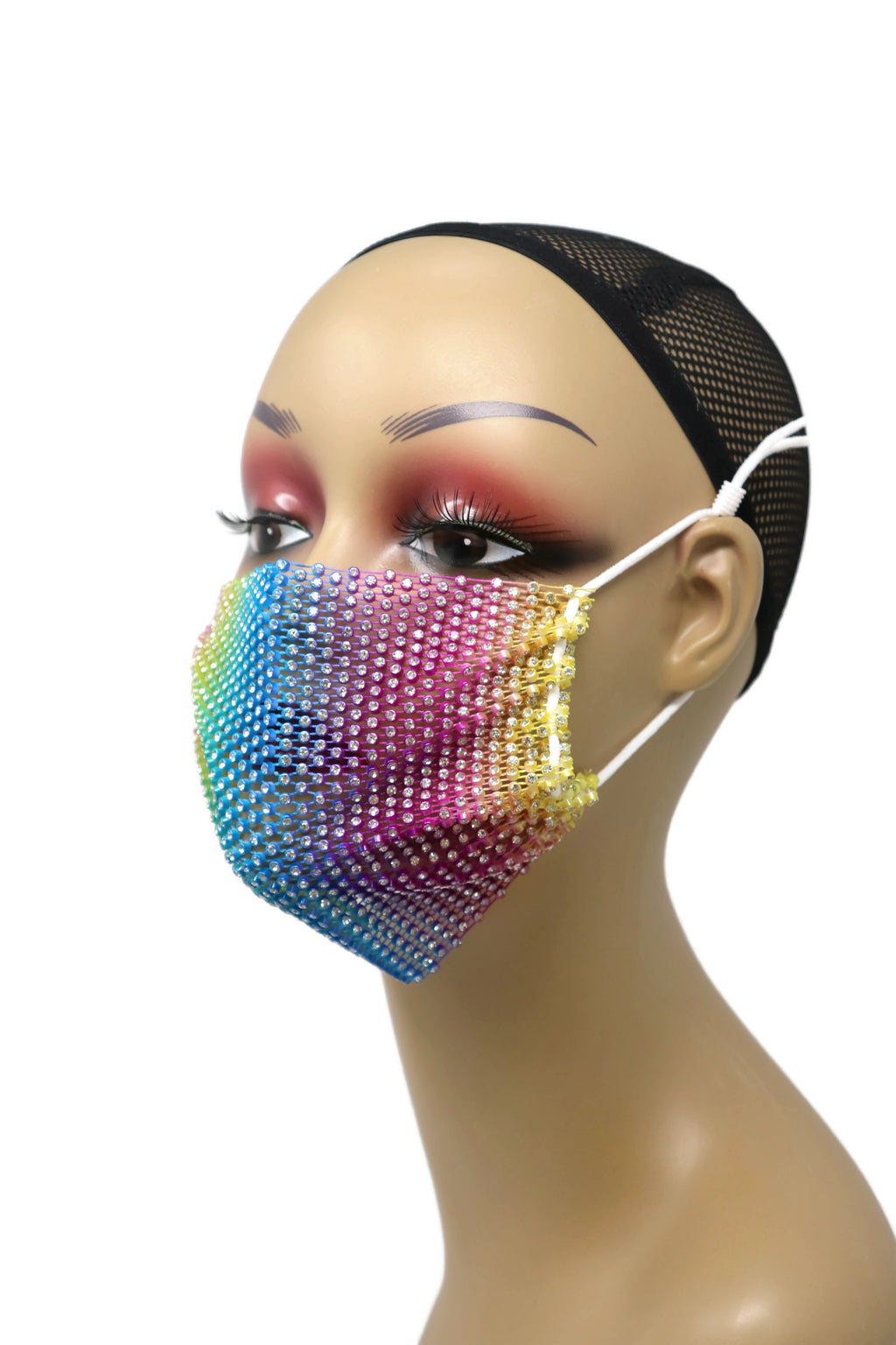Grid Rhinestone Crystal Mask(Multi color)