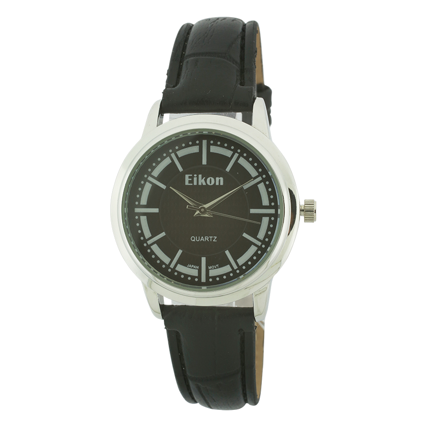 Medium Round Face Strap Watch(Silver Face)