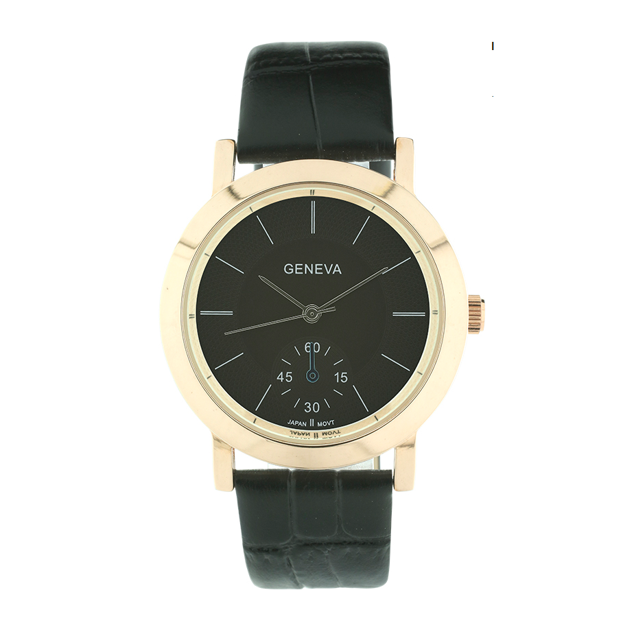 Round Face Classic Look Genuine Leather Band
