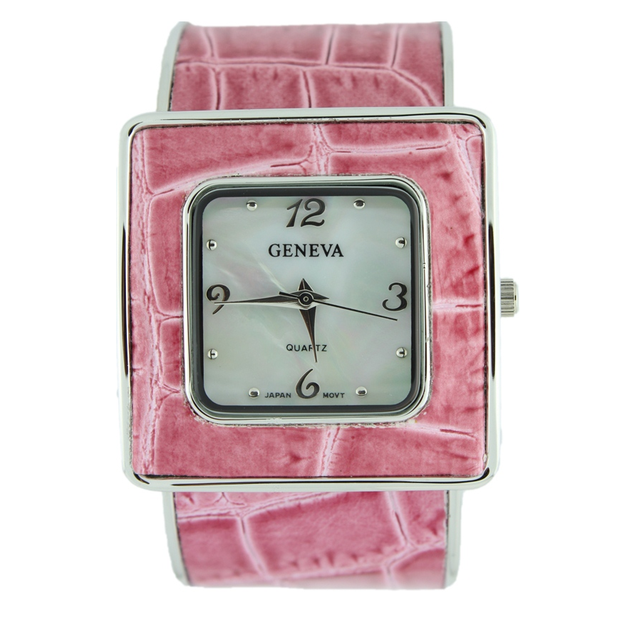 SQUARE FACE LADY CUFF WATCH