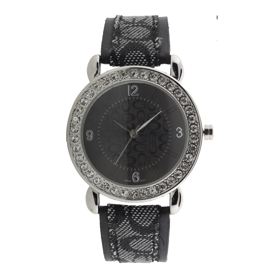 ROUND FACE STRAP BAND WATCH WITH G LETTER.