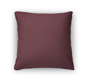 Throw Pillow, Maroon Paper