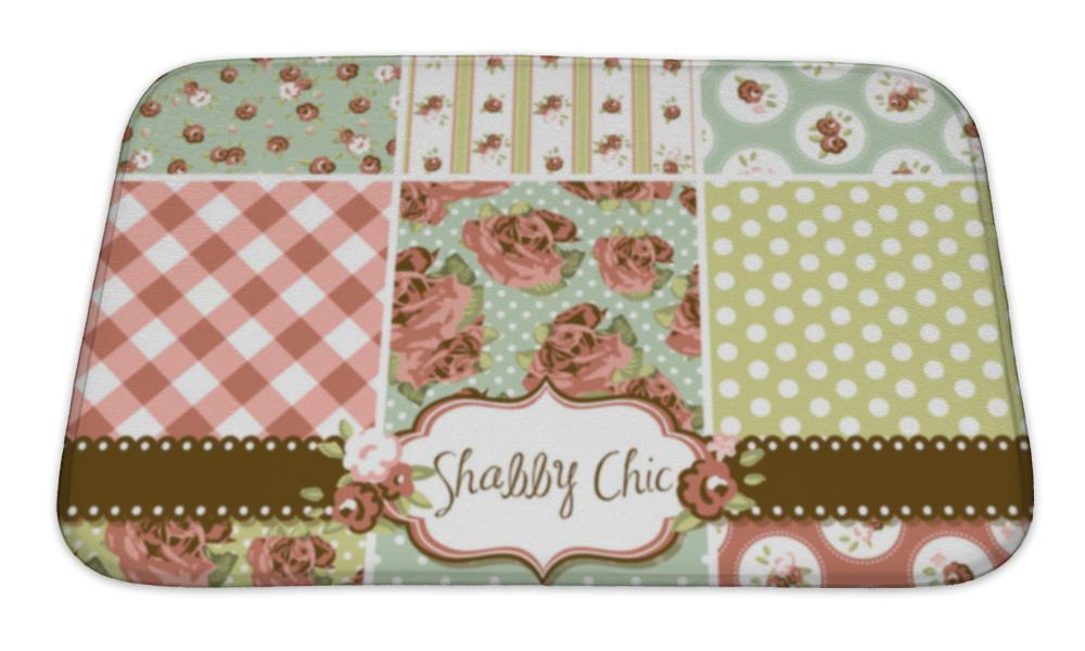 Bath Mat, Shabby Chic Rose Patterns And S Ideal For Printing Onto Fabric And Paper Or