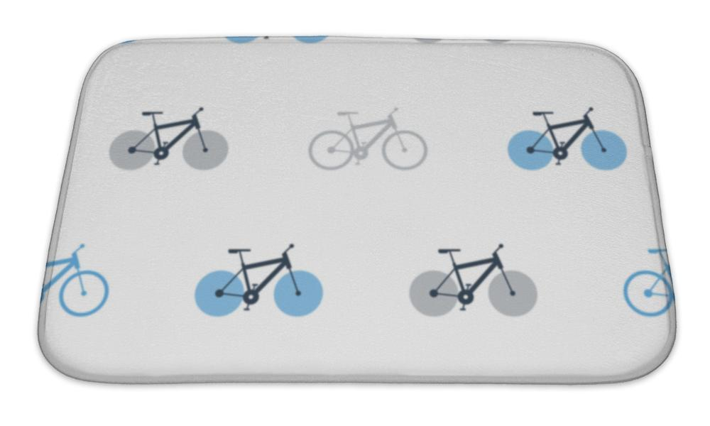 Bath Mat, Bicycle Pattern