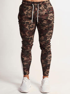 Camouflage Leisure Drawstring Pencil Pants
