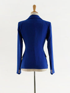 Simple Style Solid Color Fitted Ladies Suits For Work