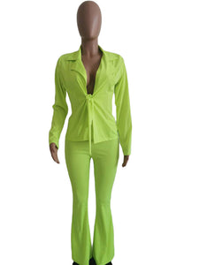 OL Style Pure Color Tying Knot Suits For Women