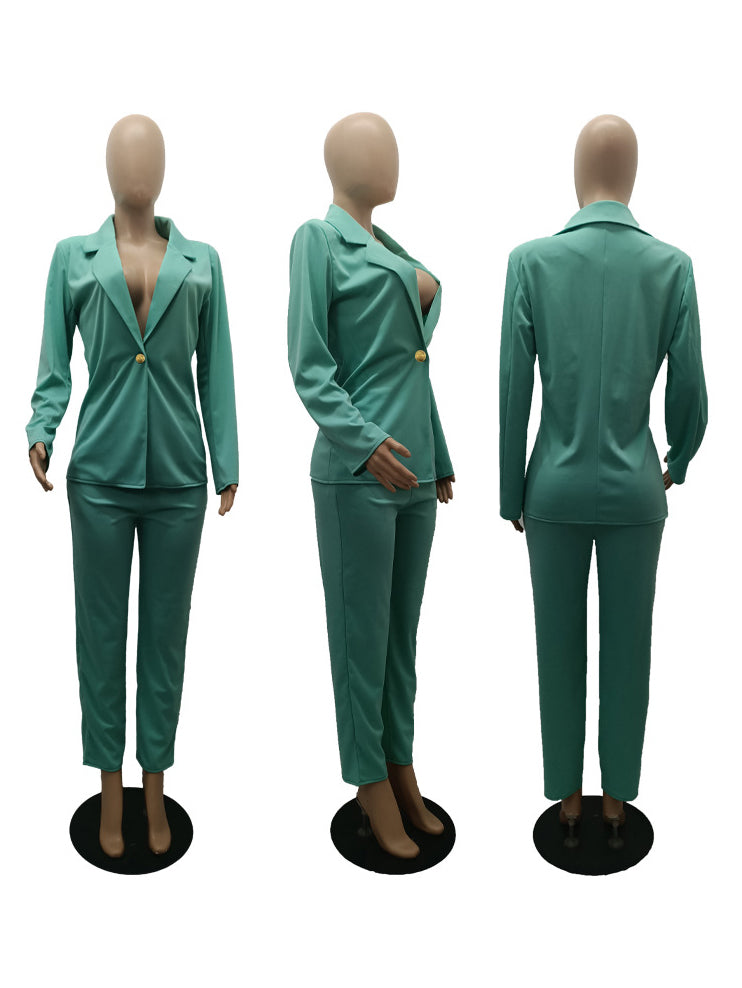 New Arrival Bright Color 2 Piece Suits For Women