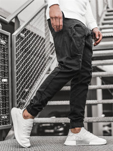 Leisure Solid Cargo Pants For Men