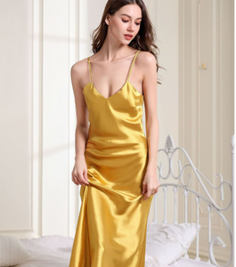 Spaghetti Strap Soft Material Summer Nightgown For Women