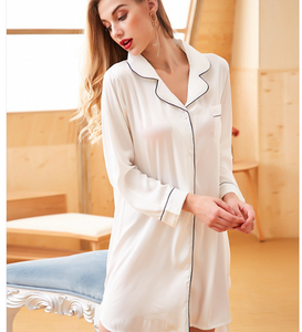 Comfortable Loose Long Sleeve Dress Womens Sleepwear