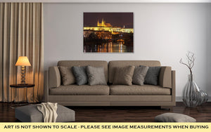 Gallery Wrapped Canvas, Prague Castle Charles Bridge Little Quarter Night Prague Czech