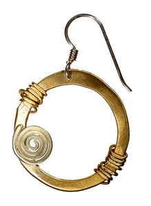 E1473 EAR WRAPPED SPIRAL HOOP