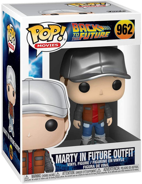 Funko Pop Movies Back To The Future Marty In Future Outfit
