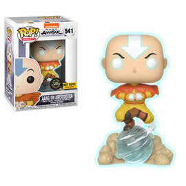 Funko Pop Animation Avatar Aang on Airscooter  GITD (Chase) (Hot Topic Exclusive.)