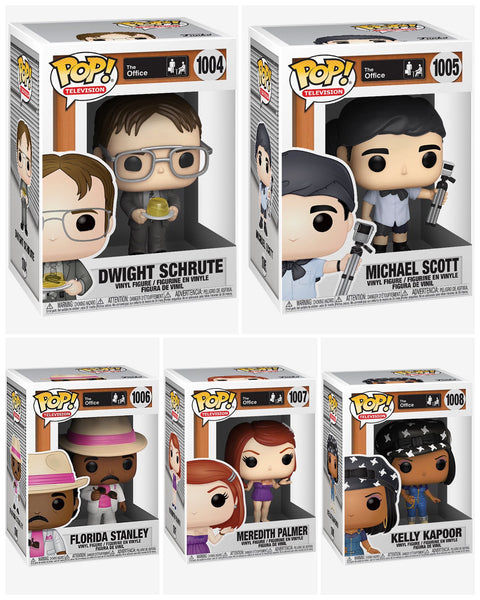 Funko Pop TV! The Office Bundle set of 5 (Enter Free Shipping in the Promo box at checkout valid in the USA only)