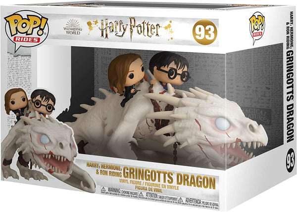 **Pre-Order** Funko Pop Rides Harry Potter Harry, Hermione and Ron Riding Gringotts Dragon