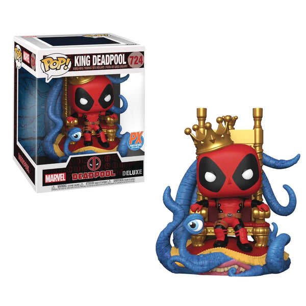"**Pre-Order** Funko Pop Marvel Heroes King Deadpool On Throne 6"" with Chance of variant comic"