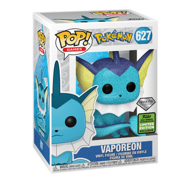 **Pre-Order** Funko Pop Games Pokémon Vaporeon Diamond Edition  (2021 ECCC Shared Exclusive) Not valid for free shipping