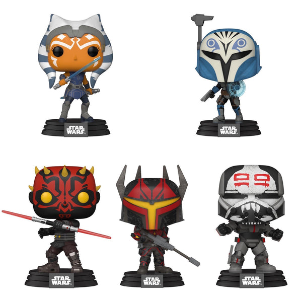 ** Pre-Order **  Funko Pop Star Wars Clone Wars Bundle of 5