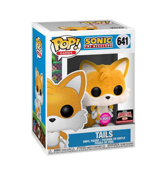 Funko Pop Games Sonic The Hedgehog Tails Flocked (TargetCon Exclusive) Not valid for free shipping