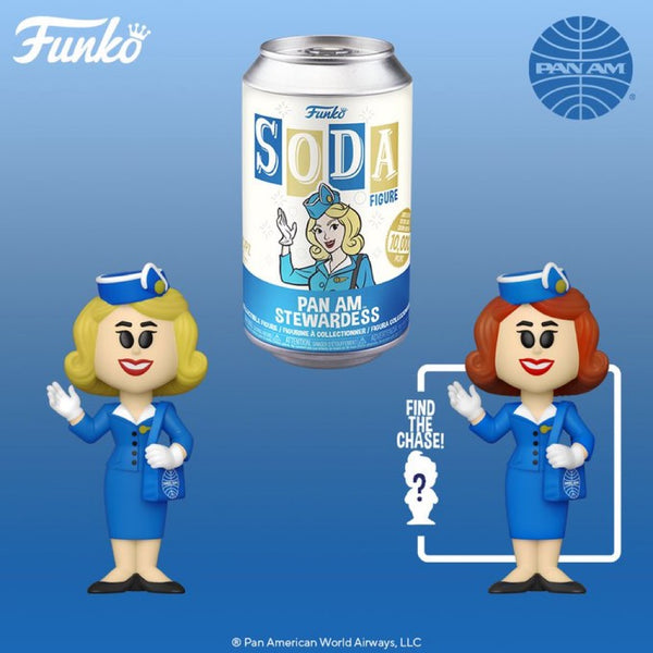 **Pre-Order Funko Pop Vinyl Soda Pan Am Stewardness with chance at the chase