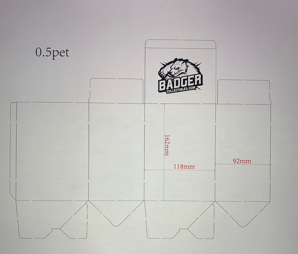 Badger Collectibles .50mm soft protector (Not valid for free shipping)
