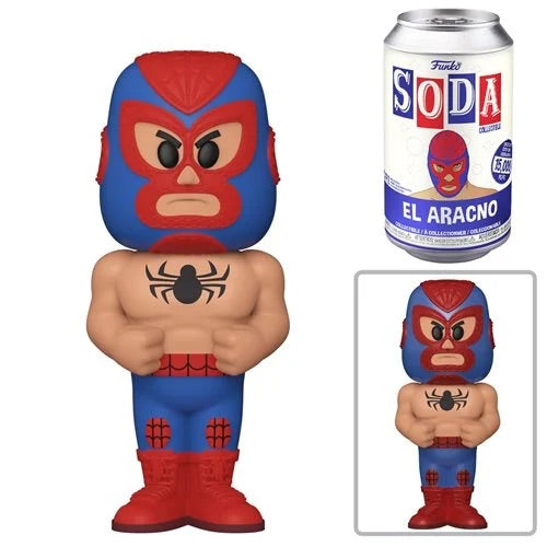 **Pre-Order** Funko Pop Vinyl Soda Marvel Luchadores Spider-Man with chance at the metallic chase (Wave 10)