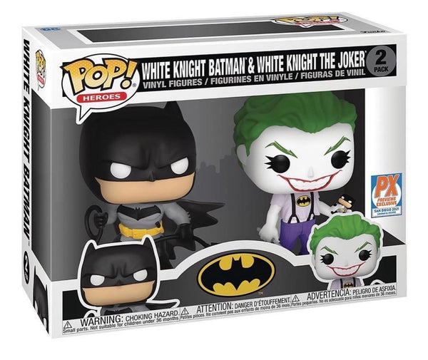**Pre-Order**  Batman White Knight Batman and Joker Pop! Vinyl Figure 2-Pack - SDCC 2021 Previews Exclusive