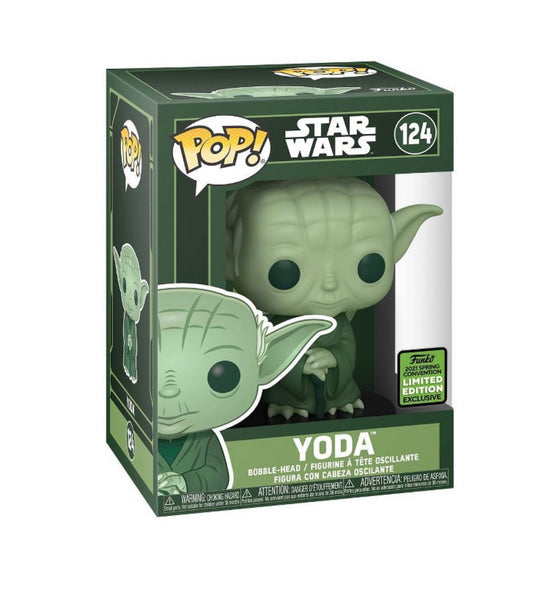 Funko Pop Star Wars Yoda Artist series (2021 ECCC Shared Sticker) Not valid for free shipping