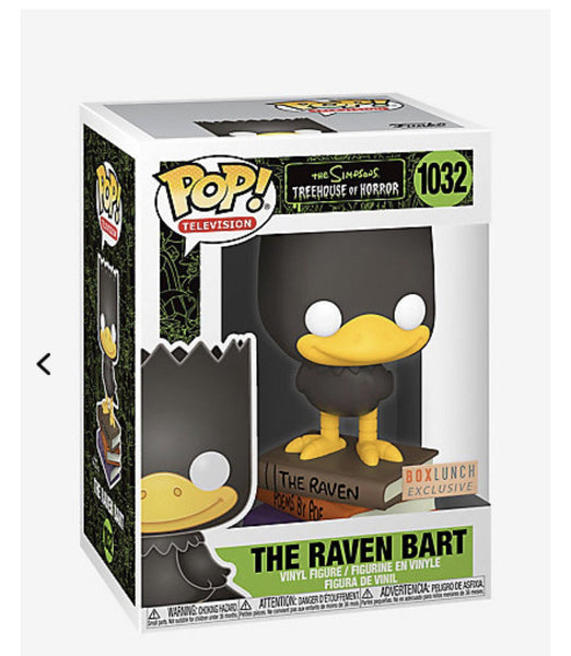 ** Pre-Order ** Funko Pop TV! The Simpsons The Raven Bart (BoxLunch Exclusive)