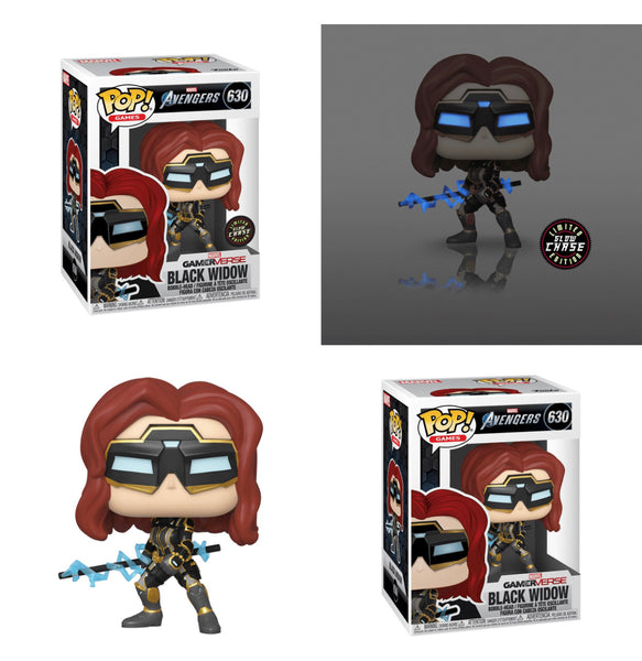 Funko Pop Avengers Game Black Widow bundle (Chase+Common)