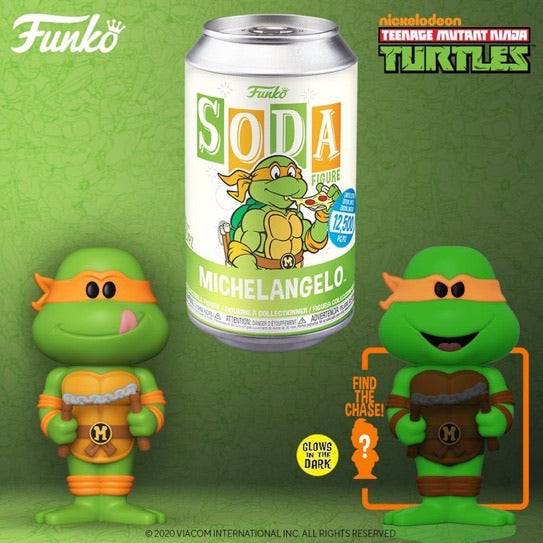Funko Soda TMNT Michelangelo with chance at chase.