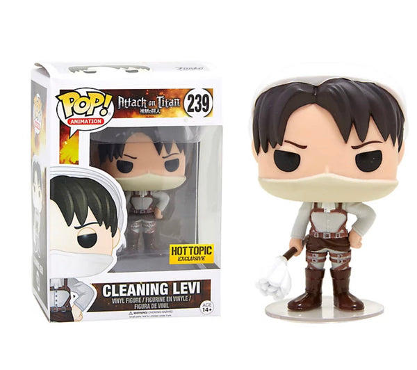 **Pre-Order** Funko Pop Animation Attack on Titan Cleaning Levi (Hot Topic Exclusive) Not valid for free shipping