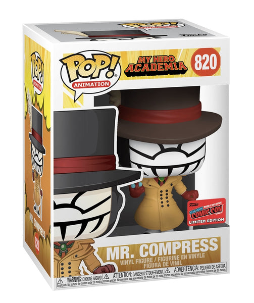 ** Pre-Order ** Funko Pop Animation My Hero Academia Mr. Compress (NYCC 2020 Shared Exclusive)