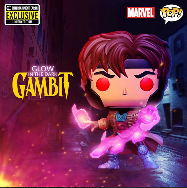 Funko Pop Marvel X-Men Gambit GITD EE Exclusive