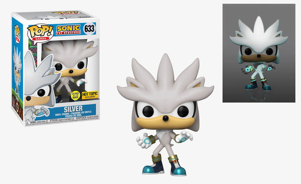 ** Pre-Order **  Funko Pop Games Sonic The Hedgehog 30th Anniversary Silver The Hedgehog GITD (Hot Topic Exclusive