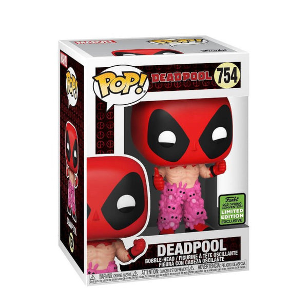Funko Pop Marvel Deadpool: Deadpool in Teddy Bear Pants (2021 ECCC Shared Sticker) Not valid for free shipping
