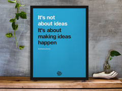Inspirational business poster inspired by Scott Belsky