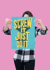 Inspirational startup poster inspired by Bransons just do it motto