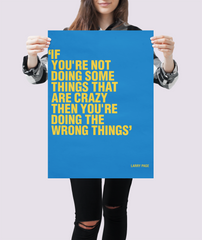 business motivational poster inspired by larry page