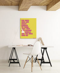 Steve Jobs Crazy Ones quote as motivational canvas print