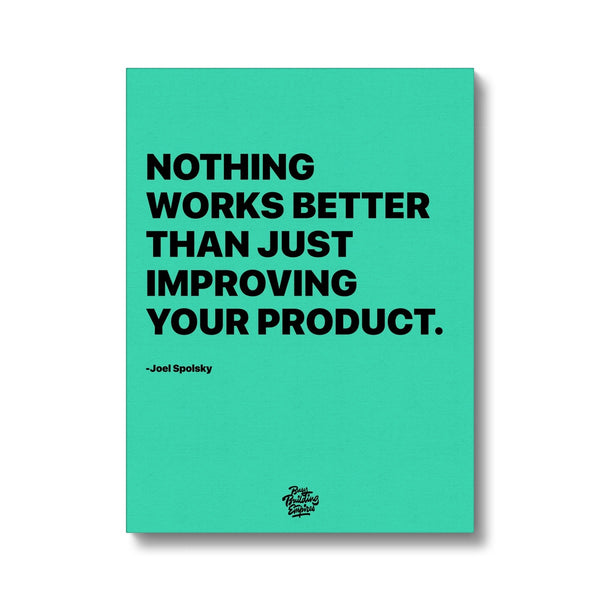 Joel Spolsky Motivational Canvas - Improve
