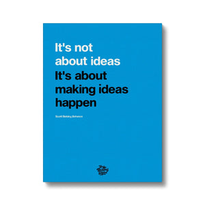 Motivational canvas art inspired by Behance founder Scott Belsky. Motivational quotes to inspire you