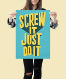 Motivational art print of Richard Branson Screw it just do it
