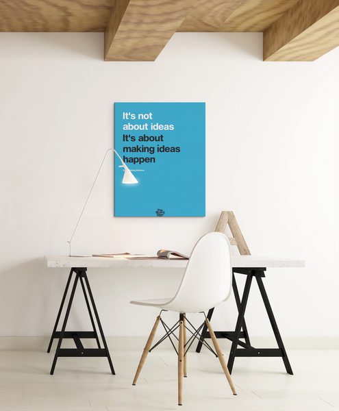 Scott Belsky inspired motivational canvas wall art print in office