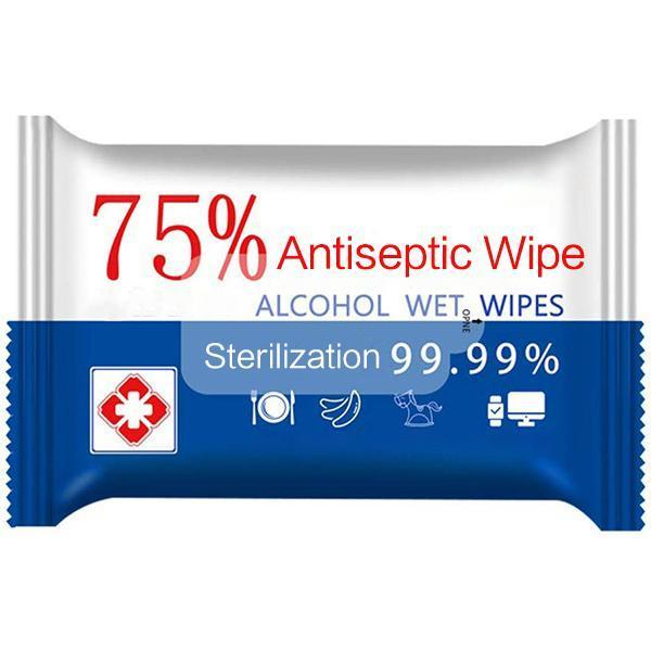 Hand Sanitizing Wipes | 50 Wipes/Box 75% Alcohol (32-PACK) - BAGANDCANVAS.COM