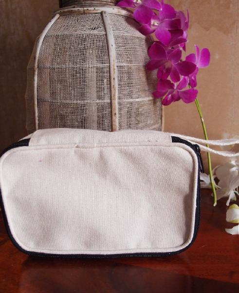 Canvas Makeup Bag / Canvas Travel Kit - BAGANDCANVAS.COM