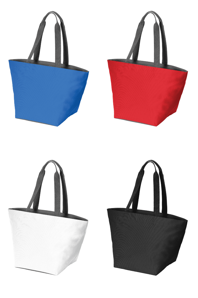 Carry All Zip Polyester Canvas Tote Bag - BAGANDCANVAS.COM